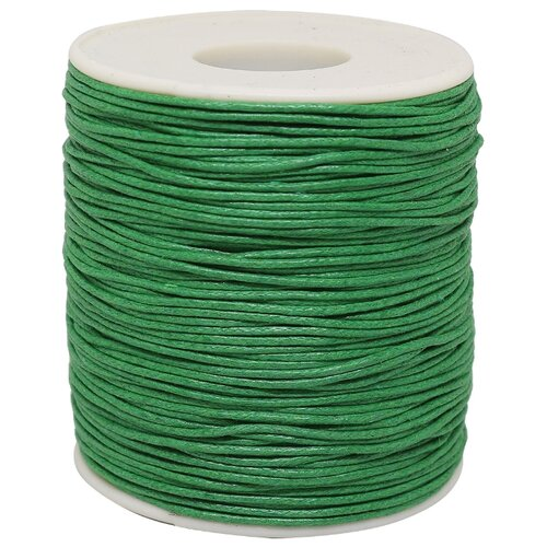 MH Industry Шнур вощеный цветной 0371-9002 1 мм х 100 м С084 зеленый
