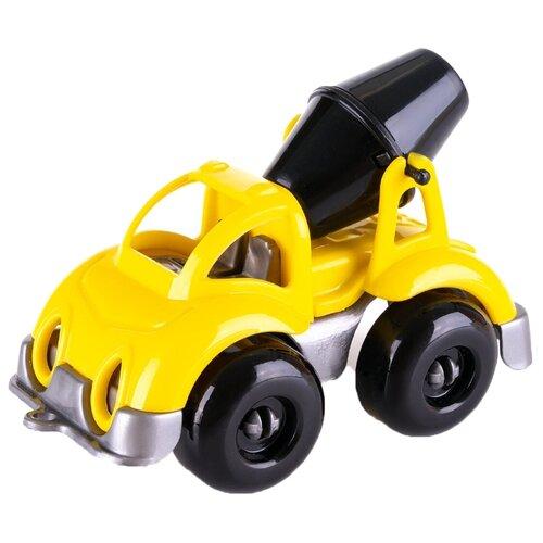 Купить Бетономешалка Knopa Вжух на стройке (86216) 10 см желтый/оранжевый/черный, Машинки и техника
