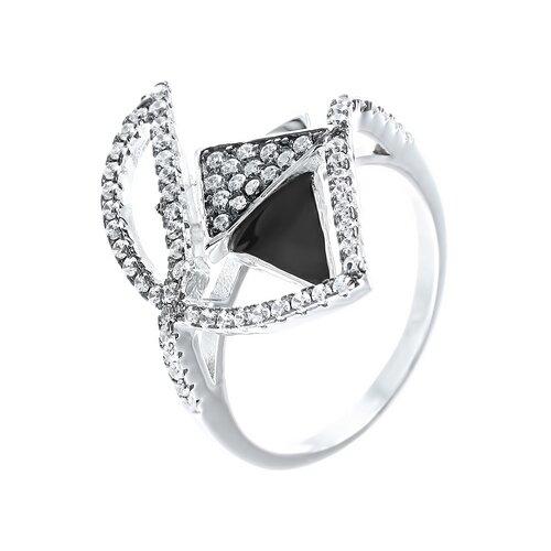 Фото - ELEMENT47 Кольцо из серебра 925 пробы с эмалью и кубическим цирконием SS-B0935RB_KO_ENAM_001_WG, размер 16.5 element47 кольцо из серебра 925 пробы с эмалью и кубическим цирконием ss b0935rb ko enam 001 wg размер 17 5