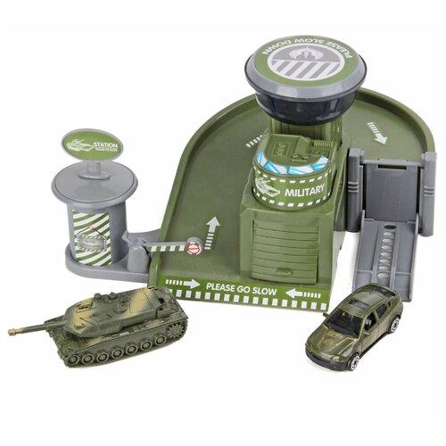 Chengmei toys Военная база 72756 зеленый/серый, Детские парковки и гаражи  - купить со скидкой