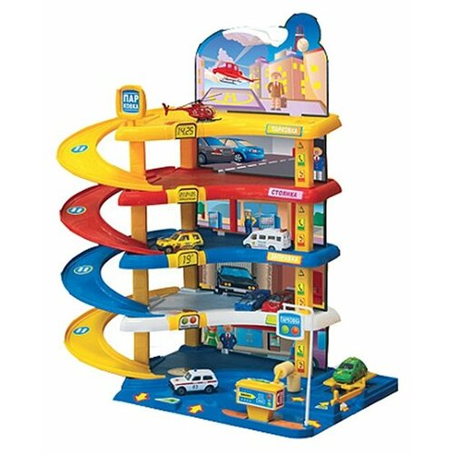 Купить Нордпласт Автопаркинг 1 431231 желтый/синий/красный, Детские парковки и гаражи