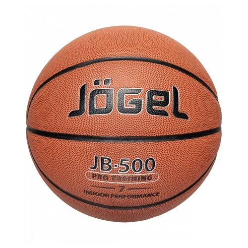 Баскетбольный мяч Jogel JB-500 №7, р. 7 коричневый мяч jogel jb 700 7 ут 00009331