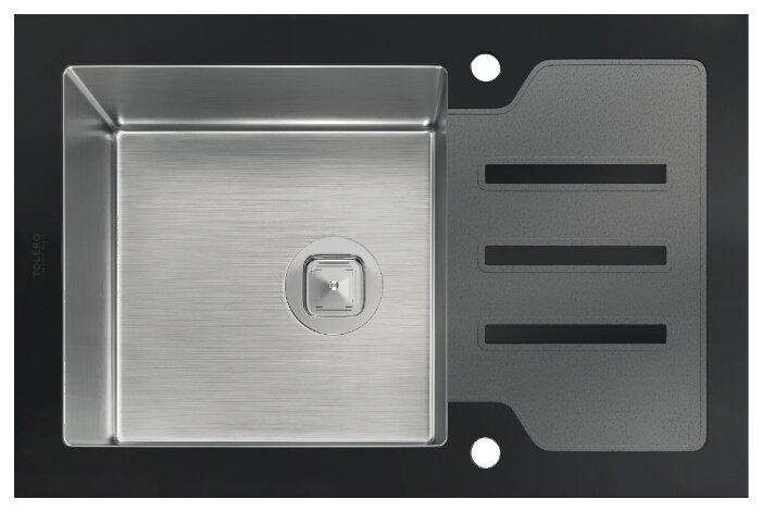 Врезная кухонная мойка Tolero Glass TG-660