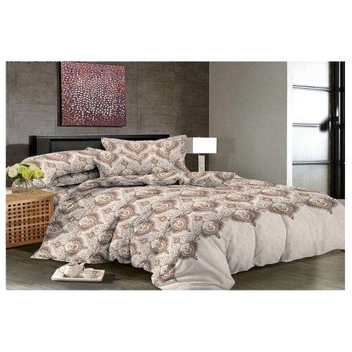 цена Постельное белье 2-спальное с евро простыней Toontex 32200 бязь серый/коричневый онлайн в 2017 году