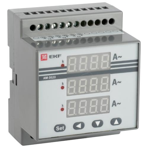 Амперметр для установки в щит EKF AD-G33