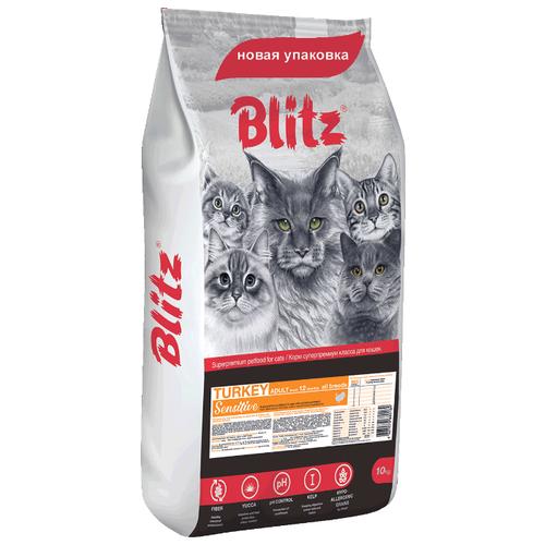 Корм для кошек Blitz Adult Cats Turkey dry (10 кг) first blitz
