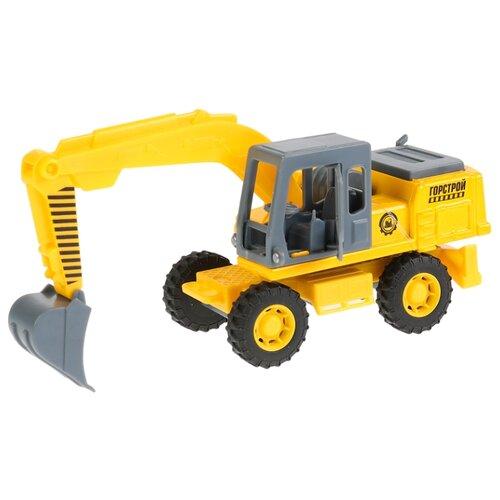 Купить Экскаватор ТЕХНОПАРК SB-18-08-A-WB 15 см желтый, Машинки и техника