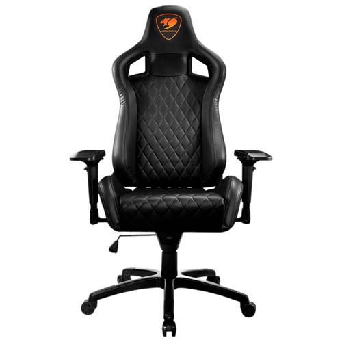 Компьютерное кресло COUGAR Armor S игровое, обивка: искусственная кожа, цвет: черный кресло компьютерное игровое cougar armor s b черный