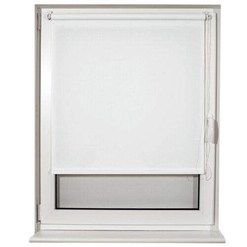 Фото - Рулонная штора Brabix Лён белый S-5, 50х175 см штора рулонная плайн 50х175 см фисташковый