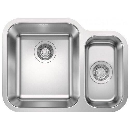 Фото - Врезная кухонная мойка 60.5 см Blanco Supra 340/180-U 525216 нержавеющая сталь/полированная кухонная мойка blanco supra 450 u 518203