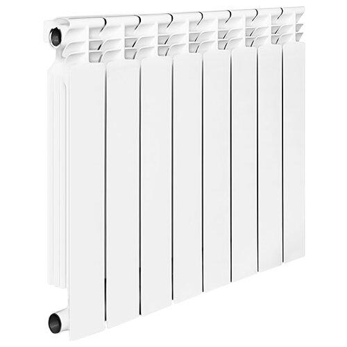 Радиатор секционный биметаллический Halsen BS 500/80 x8 теплоотдача 1424 Вт, 8 секций, подключение боковое правое RAL 9016