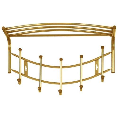 Вешалка Nika Премиум-4 5 крючков золотой