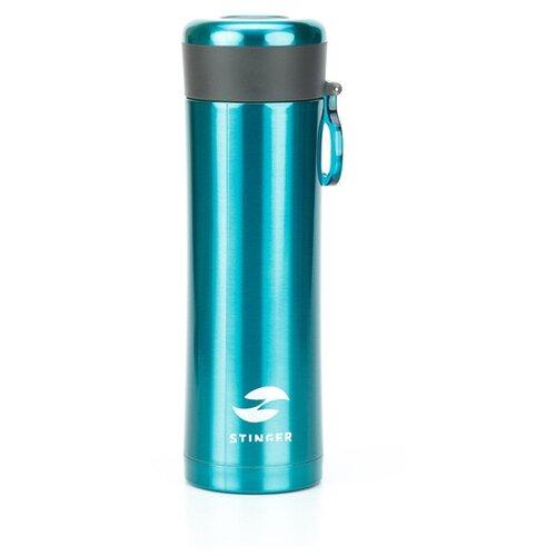 Термокружка Stinger, 0,42 л, сталь/пластик, изумрудный матовый, 7,5 х 6,9 х 22,2 см