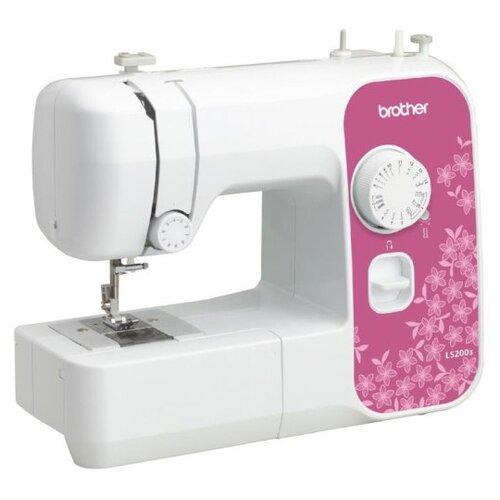 Фото - Швейная машина Brother LS-200S, бело-розовый швейная машина brother artcity 170s бело синий