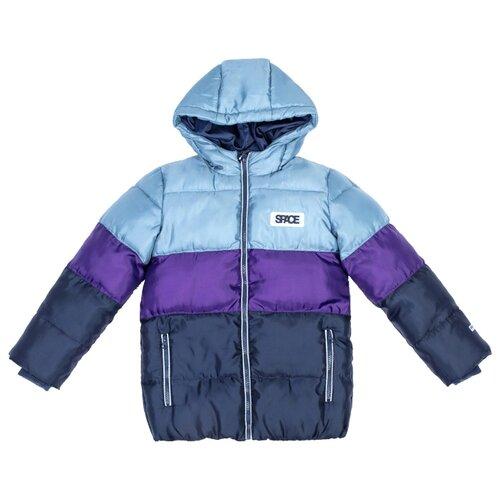 Куртка playToday 381101 размер 128, фиолетовый/темно-синий/серый куртка playtoday 393022 размер 128 темно синий