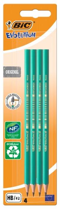 BIC Набор чернографитных карандашей Evolution 650 4 шт (8902762)