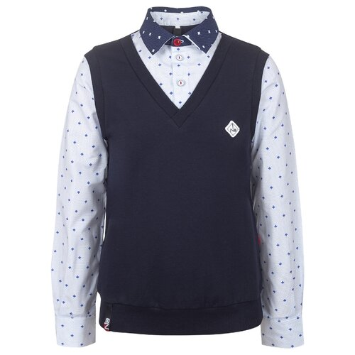 Рубашка Nota Bene размер 122, темно-синий