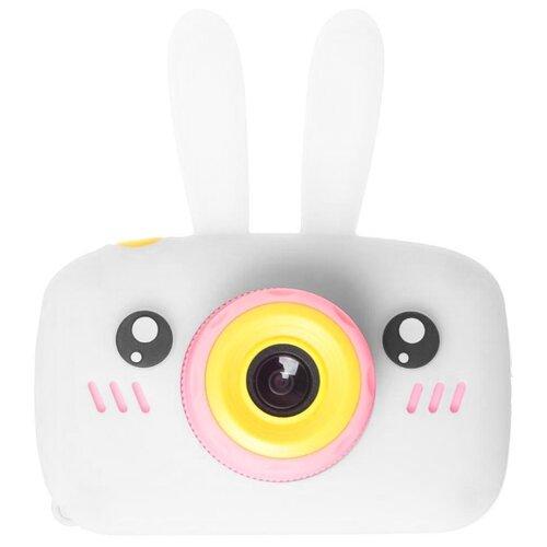 Фото - Фотоаппарат GSMIN Fun Camera Rabbit со встроенной памятью и играми белый/розовый rabbit ear embellished badge snow boots