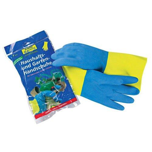 Перчатки aQualine бытовые прочные, 1 пара, размер M, цвет желтый/синий