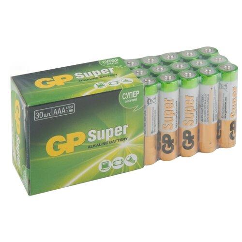 Фото - Батарейка GP Super Alkaline AAA 30 шт блистер батарейки gp super alkaline lr03 30 шт gp 24a b30