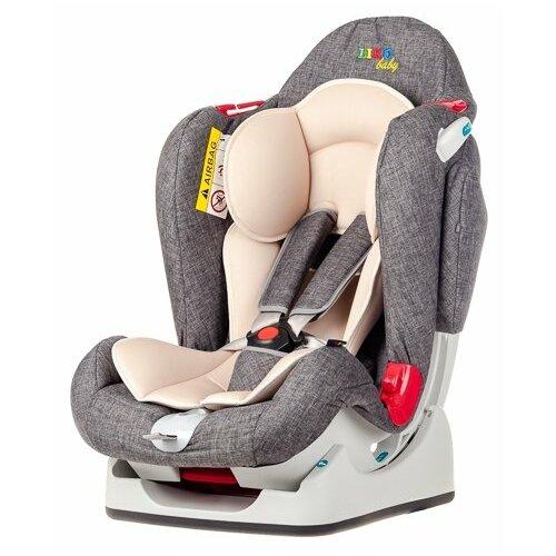 Автокресло группа 0/1/2 (до 25 кг) Liko Baby LB-510, серый/лен группа 1 2 3 от 9 до 36 кг liko baby lb 513 a