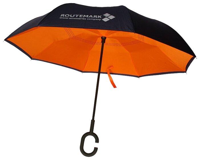 Зонт-трость полуавтомат ROUTEMARK Реверсивный zn-revers