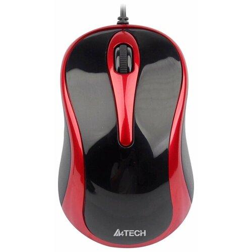 цена на Мышь A4Tech N-360-2 Red-Black USB