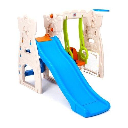 Купить Спортивно-игровой комплекс Grow N Up Scramble N Slide Play Center синий/бежевый/салатовый/оранжевый, Grow'N Up, Игровые и спортивные комплексы и горки