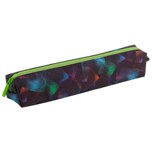 Купить Kite Пенал (K18-681-1) черный/зеленый, Пеналы