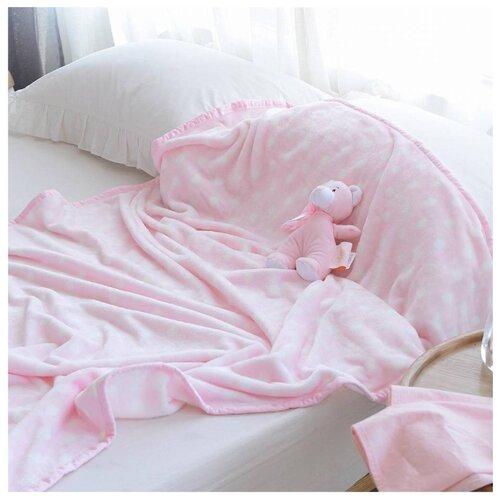 цена на Плед Sofi De MarkO Тедди с игрушкой, 100 x 150 см, розовый