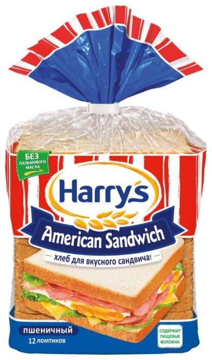 Хлеб Harry's American Sandwich Сандвичный пшеничный, 470г