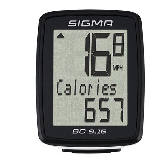 цена на Велокомпьютер SIGMA BC 9.16, 9 функций, черный
