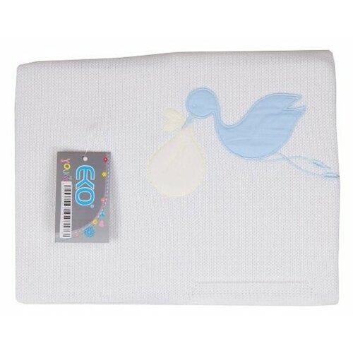 Купить Плед EKO Аист PLE-10 75х75 см голубой, Покрывала, подушки, одеяла