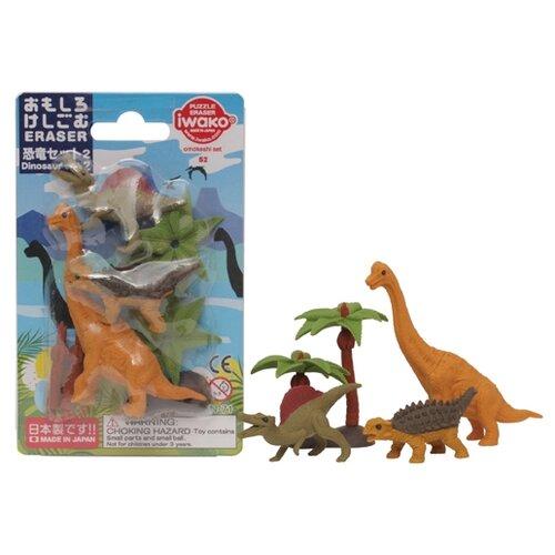 IWAKO Набор ластиков Dinosaurs 2 ассортиЛастики<br>