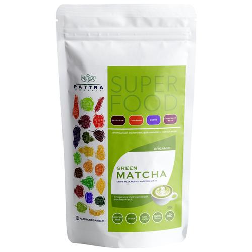 Чай зеленый Pattra organic Matcha, 50 г чай зелёный organic art kokeicha 50 г