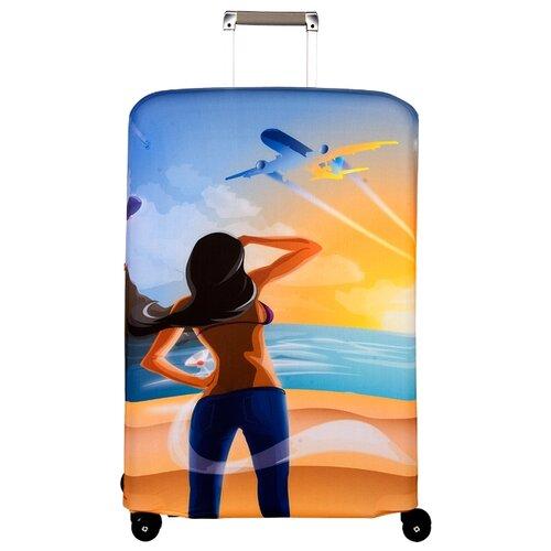 Чехол для чемодана ROUTEMARK Hello Yellow SP240 L/XL, желтыйЧемоданы<br>