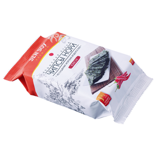 Чипсы Sen Soy Нори из морских водорослей Kimchi, 4.5 г