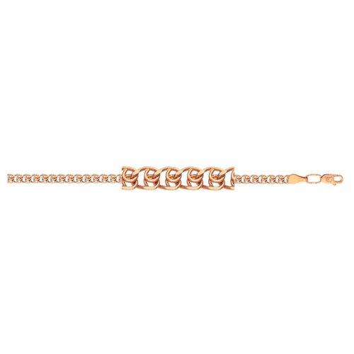 АДАМАС Браслет золотой плетения LOVE БЛ150А2-А51, 19 см, 2.97 г