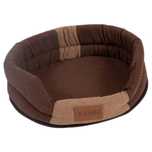 Лежак для собак и кошек Katsu Animal M 72х60х10 см коричневый/бежевый лежак для кошек для собак зоо фортуна чай 2 м 271 80х50х8 см бежевый коричневый