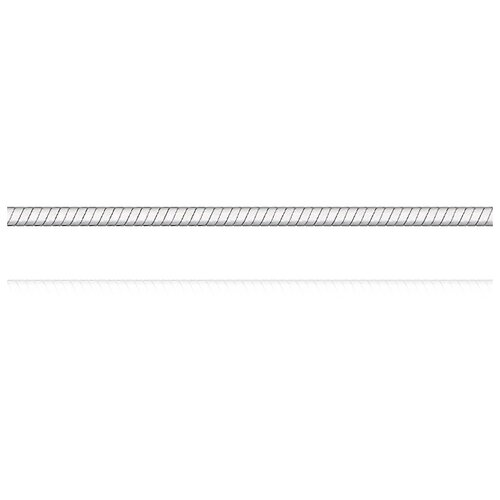 АДАМАС Цепь из белого золота плетения Панцирь одинарный ЦП130УКА1П-А58, 45 см, 2.98 г