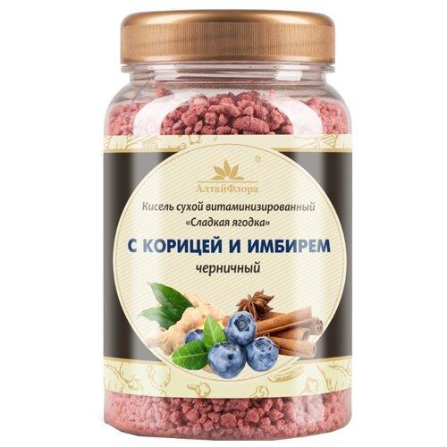 Кисель АлтайФлора Сладкая ягодка с корицей и имбирем черничный 250 г