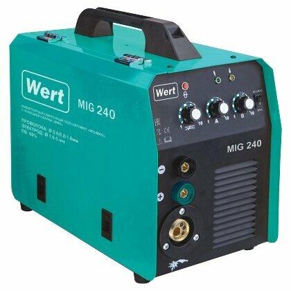 Сварочный аппарат Wert MIG 240 (MIG/MAG, MMA) купить по цене 14375 на Яндекс.Маркете