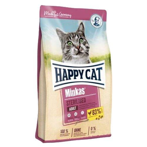 Сухой корм для стерилизованных кошек Happy Cat Minkas, с домашней птицей 1.5 кг