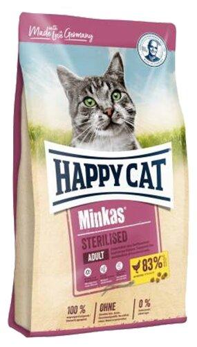 Сухой корм для стерилизованных кошек Happy Cat Minkas, с домашней птицей — купить по выгодной цене на Яндекс.Маркете