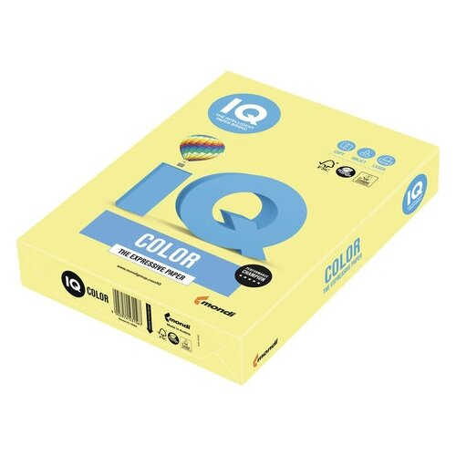Фото - Бумага IQ Color А4 160 г/м² 250 лист. лимонно-желтый ZG34 1 шт. бумага iq color а4 160 г м² 250 лист бледно лиловый la12 1 шт
