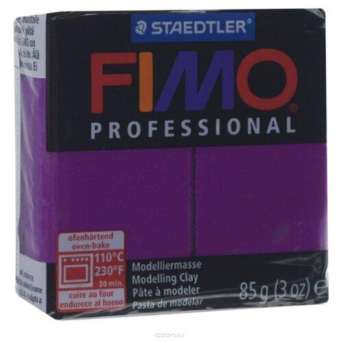 Купить Полимерная глина FIMO Professional запекаемая 85 г фиолетовый (8004-61), Глина