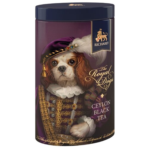 Чай черный Richard The royal dogs подарочный набор, 80 г чай листовой richard royal ceylon dogs