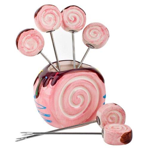ELFF ceramics Подставка для канапе Бисквит розовый кружка 280 мл elff ceramics