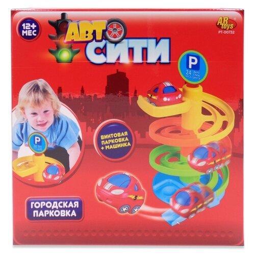 Купить ABtoys Авто Сити: Городская парковка PT-00732 желтый/оранжевый/зеленый/голубой/красный, Детские парковки и гаражи