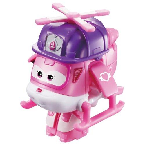Трансформер Auldey SUPER WINGS Диззи Мини (команда Строителей) розовый/фиолетовый